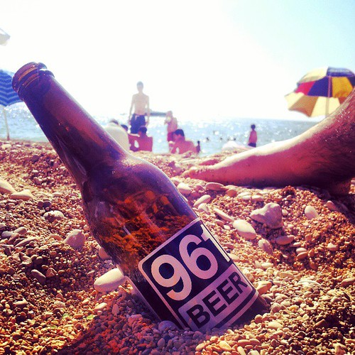Sun, beach, and @961beer #lebanon #sea #beach