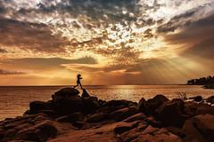 Shine On Me (Boreal Bird) Tags: light beach hope rocks child future lakesuperior hss shineonme sliderssunday