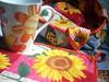 mug rug girassol (Carla Cordeiro) Tags: placemat botão borboleta patchwork cozinha caneca joaninha girassol cestinha jogoamericano mugrug cantomitrado