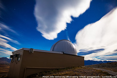 Clouded Splinter over the Dome (Earth & Sky NZ) Tags: newzealand clouds bc observatory mackenzie astrophotography dome nz astronomy ida tekapo stargazing aoraki  mtjohn earthandsky 2013 mtjohnobservatory  27april april27th mackenziebasin yanagimachi internationaldarkskyassociation  mtjohnuniversityobservatory bollerandchivens darkskyreserve starlightreserve aorakimackenzieinternationaldarkskyreserve