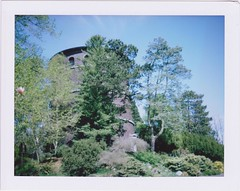 water tower (Brian D*) Tags: seattle volunteerparkconservatory fujifilmfp100c polaroidcolorpackii