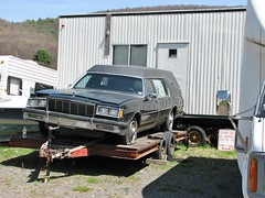 '80'S BUICK HEARSE (richie 59) Tags: trees usa cars car america outside us buick spring automobile gm unitedstates headlights grill vehicles chrome vehicle flattire newyorkstate headlight oldcar oldcars oldvehicles hearse automobiles stationwagon nystate americancars frontend generalmotors hudsonvalley grills blackcar americancar motorvehicles ulstercounty buicks motorvehicle 4door uscar uscars stationwagons midhudsonvalley 2013 fourdoor blackcars ulstercountyny oldstationwagon oldbuick gmcar gmcars oldstationwagons oldbuicks 2010s 1980scar 1980scars townofulster richie59 april2013 townofulsterny buickhearse blackhearse americanstationwagon april282013