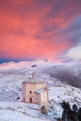The Lonely Church (Vertical) (Corsaro078) Tags: snow church sunrise landscape alba chiesa neve paesaggio abruzzo