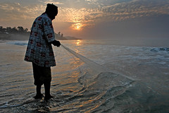 Omar - de visser uit Gambia/Africa.