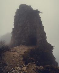 past the veil (coma_wink) Tags: rock fog nebel path eingang tunnel fels weg pfad stradadelle52gallerie
