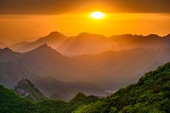 Magic Sunset | Jiankou Great Wall | China 2016 #131/365 (A. Aleksandraviius) Tags: china sunset sun mountains green wall forest evening nikon magic great 365 70200 jiankou 2016 project365 365days 3exposures d810 131365 nikond810 lehdr nikon70200mmf28gedvrii triggertrap 3652016