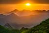 Magic Sunset | Jiankou Great Wall | China 2016 #131/365 (A. Aleksandravičius) Tags: china sunset sun mountains green wall forest evening nikon magic great 365 70200 jiankou 2016 project365 365days 3exposures d810 131365 nikond810 lehdr nikon70200mmf28gedvrii triggertrap 3652016