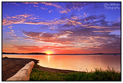 Come this way... (juliewilliams11) Tags: sunset sky landscape bay waterfront outdoor border shore serene hightide photoborder