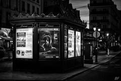 Photo in street photo !  3 (poupette1957) Tags: street city black paris detail art architecture night canon french landscape town photographie noiretblanc exposition deco rue affiche parisblackandwhite atmosphre imagesingulires