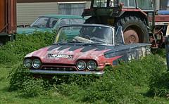 1963 Ford Consul Capri originally in Yellow paint (Beer Dave) Tags: classic ford capri rust automobile wreck scrap consul