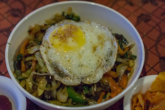 Jaisalmer, India (DitchTheMap) Tags: food india white asian pepper cuisine wooden healthy mixed colorful asia flickr dish rice sauce beef traditional cucumber egg bowl vegetable meat pork korean meal sliced cooked bibimbap jaisalmer rajasthan ingredient in 2016 bibimbop