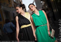 IMG_4691 (traccediscatti) Tags: verde persone giallo donne nero abito sera pubblicit ragazze modelle abbigliamento allaperto accessori vestito acconciatura