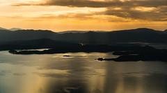 Evening contrasts (dan.kristiansen) Tags: sunset sea summer seascape mountains landscape evening coast sommer fjord tysnes fjell solnedgang kveld landskap sj kyst sunnhordland kvinnherad husnesfjorden grskallen