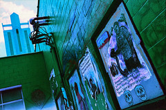 Read Any Good Walls Lately? (hpaton1) Tags: film analog purple charlotte canonef2470mmf28l canoneos1v lomochrome
