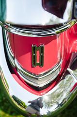 Double 8 (GmanViz) Tags: color detail car nikon automobile bumper chrome badge 1957 88 taillight oldsmobile gmanviz d7000