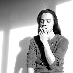 Breath (Sarah Marcni) Tags: light portrait blackandwhite man men shadows noiretblanc lumire cigarette smoke ombre smoker homme fume cendre inspirer respirer