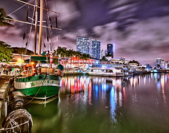 Heritage of Miami (tfinzel) Tags: heritage night boats miami bayside marketplace hdr