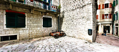 A lone bike on the streets of Kotor, Montenegro