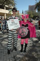war criminal (Nuevo Anden) Tags: sanantonio heidi march texas jim feminism activism codepink internationalwomensday