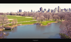[ Central Park ] (bonnix (Scotty)) Tags: park nyc newyorkcity trees sea green water grass skyscrapers centralpark turtlepond nikond700 nikkor247028