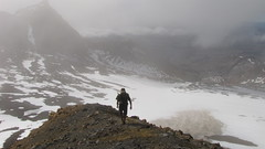 Descending from Dome to the Summit Plateau (blue polar