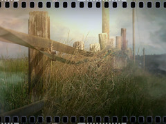 Foggy Fence Line (macfred64) Tags: blur fence foggy blurred textured daybreak fenceline foggymorning cineastic vintagetones filmoverlay