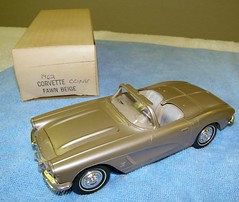 1962 Chevrolet Corvette Promo Model Car - Fawn Beige Metallic (coconv) Tags: pictures auto old history classic cars chevrolet scale car vintage photo promo model beige automobile photos antique metallic picture plastic 124 chevy fawn photograph sample kit collectible collectors corvette promotional coupe 1962 dealership 62 johan mpc 125 amt smp hubley revell banthrico