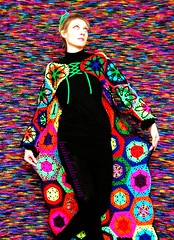 Bad Trip Psychedelic Nightmare Crochet Coat (babukatorium) Tags: pink flowers blue red orange black color green art wool fashion yellow dreadlocks star sweater rainbow funny colorful purple recycled handmade turquoise oneofakind coat crochet moda violet knit style mandala blonde daisy hexagon hippie dread knitted fiori psychedelic dreads rasta cardigan bohemian multicolor whimsical extensions fakehair haken icord fakedreads hkeln emeraldgreen croch ganchillo fuxia uncinetto yarnhair fattoamano woolhair capellifinti yarndreads  dreadextension tii horgolt wooldread woolrovingdreads fakedread babukatorium