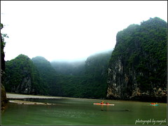 (artistRanjesh2) Tags: sea fog landscape boats island bay vietnam waters naturalbeauty halong halongbay worldheritage
