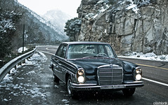 W108 in the Snow (again) (DryHeatPanzer) Tags: arizona mercedes benz tucson az 1966 mtlemmon mbz w108 250se