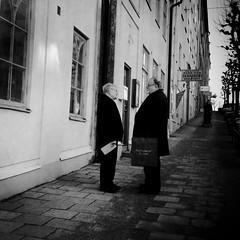 small talk (Anders Öfverström) Tags: street people bw men sweden stockholm anders 2012 smalltalk sundbyberg öfverström