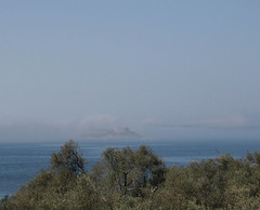 Obscured by clouds (campfullmonte) Tags: sea mist fog fort safe montenegro mamula