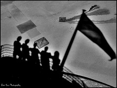 Silhouette on a boat. (Ben Cox Photography) Tags: friends shadow silhouette boat shadows flag group mates