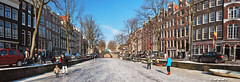 Reguliersgracht (JdJ Photography (Aardewerk)) Tags: city blue trees sky people sun sunlight white snow holland cars ice netherlands amsterdam boats bomen europa europe downtown blauw day afternoon bright centre sneeuw skating nederland sunny boten bicycles daytime autos innercity lucht dag wit mokum helder centrum zon province fietsen stad noordholland zonlicht middag ijs schaatsen mensen benelux archbridge reguliersgracht randstad canalhouses zonnig binnenstad grachtenpanden provincie northholland amsterdamcentrum overdag boogbrug amsterdamcitycentre ceskating