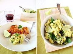 Frittelle hot di patate e mais con guacamole (Oggi pane e salame, domani...) Tags: avocado potatoes vegetarian recipes sweetcorn