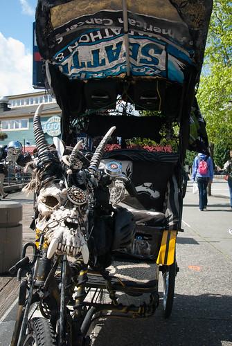 Skull rickshaw