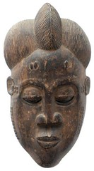 10Y_0900 (Kachile) Tags: art mask african tribal côtedivoire primitive ivorycoast gouro baoulé nativebaoulémasksaremainlyanthropomorphicmeaningtheydepicthumanfacestypicallytheyarenarrowandfemininelookingincomparisontomasksofotherethnicitiesoftenfeaturenohairatallbaouléfacemasksaremostlyadornedwithvarioustrad