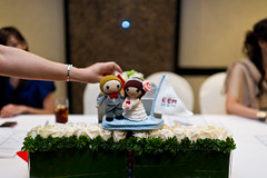 Wedding Mascot at the Wedding Dinner (saplanet originals™) Tags: weddingreception weddingdolls weddingdecoration crochetdolls
