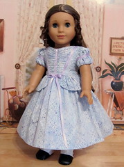 Fancy 1850's Young Girl's Gown (Keepersdollyduds) Tags: girl doll american gown 1853 cecile peplum ruching mariegrace keepersdollyduds