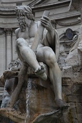Piazza Navona - Fontana dei Quattro Fiumi (Heaven`s Gate (John)) Tags: italy sculpture rome art fountain piazza bernini dei navona quattro fontan fiumi johndalkin heavensgatejohn