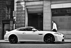 XKR-S. (Jurriaan Vogel) Tags: auto uk england bw white black london cars car photography nikon automobile britain united great kingdom s automotive r gb 1750 jag jaguar tamron vogel 2012 xkr d60 xk jurriaan ldn xkrs worldcars