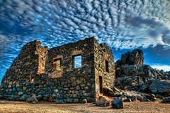 Ruined (rseidel3) Tags: clouds island gold ruins rocks aruba hdr eastcoast