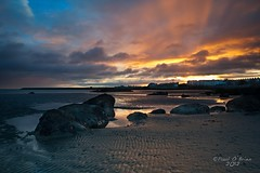 Seapoint Beach Sunrise (Paul O'B) Tags: ireland dublin seascape beach water sunrise reflections dawn sand seapoint offshoot paulobrien borderfx