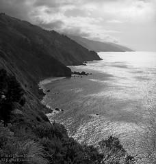 Big Sur Mono (NewNomads) Tags: ocean california sea clouds silver bigsur monochromatic cliffs