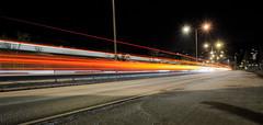 Light trails (Lukas Larsed) Tags: road city longexposure oslo norway architecture night highway traffic lighttrails lowkey manglerud cityandarchitecture