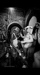 Making ... (Camera ) Tags: life street india photography nikon doll factory god indian making kolkata puja preparation idols durga westbengal