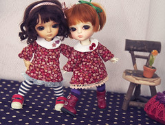 twin dresses (Fu) Tags: yellow twins explore miel alexa resin cecile bid gemelas latidoll lati