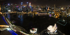 Singapore Nightscape during i Light Marina Bay part2 (Wang Guowen (gw.wang)) Tags: longexposure panorama singapore nightscape esplanade merlion mbs singaporeriver explored marinabaysands marinabayfinancialcentre ilightmarinabay marinaskypark gwwang wwwon9cloudcom