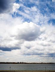 Clouds (Brînzei) Tags: sky water clouds stitched ★ explored bucurești laculmorii canoneos400d crângași sigma24mmf28superwideiimulticoated