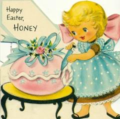 Happy Easter, Honey (reinap) Tags: easter happyeaster eastergreetings vintagegreetingcard vintageeastercard